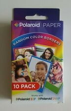 Polaroid 2x3 Random Rainbow Color Borders (10-Pack) on Premium ZINK Photo Paper