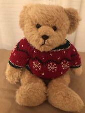 Yang Jee Plush Teddy Bear Red Snowflake Sweater