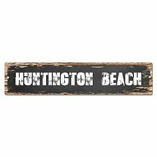 SP0289 HUNTINGTON BEACH Chic Street Sign Bar Store Shop Cafe Home Wall Decor