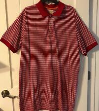 Docker's Polo Shirt XLT Red/White/Gray