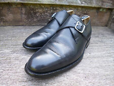 BALLY SCRIBE MONK STRAP – BLACK / GREY - UK 6.5 – EXCELLENT– GOOD FOR CHURCH