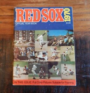 1970 BOSTON RED SOX OFFICIAL BASEBALL YEARBOOK YAZ FISK (ROOKIE) CONIGLIARO +++