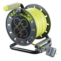 Masterplug ProXT OMU25134SL-PX 25m 4 Socket Electrical Cable Reel