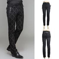 Devil Fashion PT042 Elegant Goth Victorian Steampunk Brocade Lace Trousers Pants