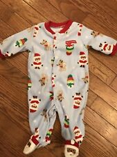 EUC O 3 M Mos CHILD MINE CARTERS FIRST 1st CHRISTMAS BOY OUTFIT Santa Snowman