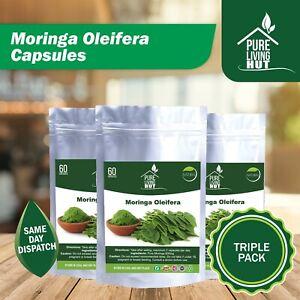 Moringa Oleifera Pure 600mg Organic Health Capsules 60 Capsules, All Natural