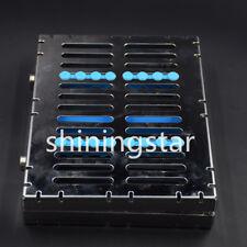 SS Dental Sterilization Cassette Rack Tray Box CASE for 10 Surgical Instrument