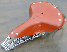 Lt Brown Leather Hairpin Saddle Vintage Schwinn Chopper RatRod Cruiser Bike Seat