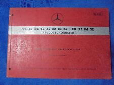 mercedes 300 sl roadster manual spare parts list 1963