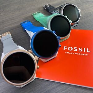 Fossil Smartwatch Sport 41mm with Silicone Band Unisex Black, Mint, Blue, Grey
