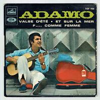 """ADAMO Vinyle 45 tours EP 7"""" VALSE D'ETE - F.. FEMME - VOIX DE SON MAITRE 1022"""