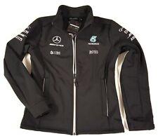 Mercedes Formel 1 Softshelljacke Outdoor Sportjacke Damen Unisex schwarz Gr. 38