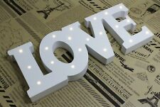 "Wood LED 14"" x 5"" Large LOVE Sign Bedroom Decor Lights Marquee Letters Wall Home"
