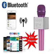 Handheld Q9 Wireless Bluetooth Karaoke Microphone Speaker Portable Home KTV Pink