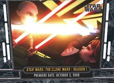 2017 Star Wars 40th Anniversary Card #10 Clone Wars Season 1