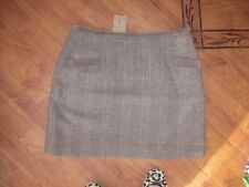 BNWT LADIES JOULES CAROLE TOAD BROWN TWEED CHECK MINI SKIRT SIZE 16.RRP £69.95