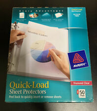 Avery Quick Load Sheet Protectors For Letter 8 12 X 11 Sheet Clear
