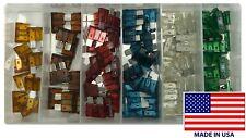 100 Piece ATO / ATC Blade Type Fuse Automotive Assortment Kit - USA Made