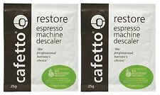 2x 25g Cafetto Restore Descaler Decalcifier Cleaner Espresso FREE COFFEE SAMPLE