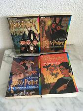 lot de 4 livres harry potter format poche tomes 1, 2, 3 et 4