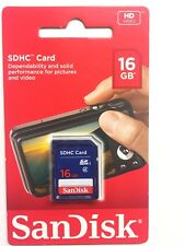 16GB SanDisk Class 4 SDHC UHS-I Flash Memory SD Card For Cameras ( NEW)
