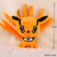 Naruto Uzumaki Kyuubi Kurama Nine Tails Cute Soft Plush Toy Doll 10'' Kids Gift