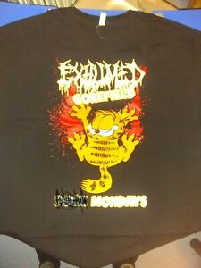 Exhumed Garfield Gorefield Shirt XL Extra Large Death Metal Gore