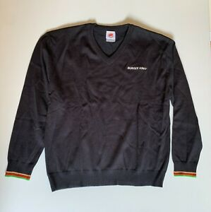 NEW Burger King WF Manager Black Sweater Pullover Uniform Embroidered Size XL
