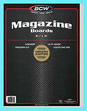 "10 BCW MAGAZINE SIZE 8.5"" x 11"" BACKING BOARDS Storage White Backer 24pt 8-1/2"""