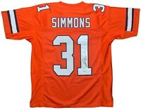 Justin Simmons autographed signed jersey NFL Denver Broncos Beckett COA