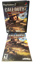 Call of Duty 2 Big Red One W Manual PS2 PlayStation 2 Game