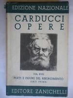Poeti e figure del Risorgimento serie prima 1Carducci Zanichelli letteratura 26