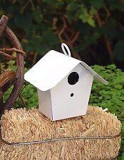 Miniature Dollhouse FAIRY GARDEN Accessories ~ Mini Metal White Birdhouse ~ NEW