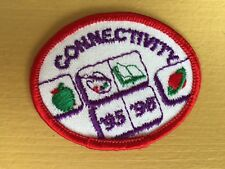 """Girl Scout Patch - Connectivity 95' 96""""- New - Qty 1"""