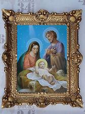 Gemälde Jesus Maria Ikonen Heiligenbild mit Rahmen 56x46 cm Religiöse Bilder 7