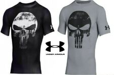 Under Armour Alter Ego Punisher Compression Shirt Black and Gray FREE Shipping