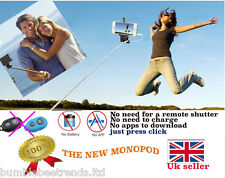 NEW MONOPOD SELFIE STICK WIRED ROD FOR IPHONE SAMSUNG CAMERA HOLDER