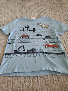 Hanna Andersson boys 120 space transportation shirt