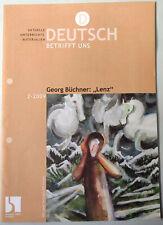 UNTERRICHTSMATERIALIEN Georg Büchner LENZ Deutsch BETRIFFT UNS 2-09 Lehrerband
