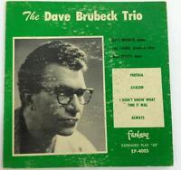 Dave Brubeck Trio Jazz Perfidia Avalon Always Fantasy EP 4005 45 RPM
