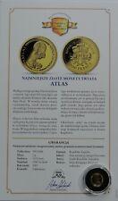 TOGO 1500 Francs 2007  1g  999.9 Gold Proof + COA RARE