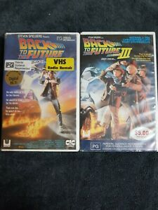 Back To The Future Parts 1 And 3 VHS *Big Box Ex-Rental* *PART 1 RARE*