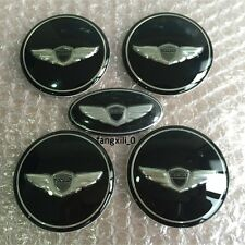 4x Wheel Caps Hubs 1pcs Steering Sticker Hyundai Genesis Coupe WING Logo Emblem