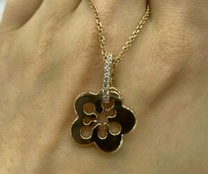 Boodles 18ct Rose Gold Diamond Blossom Necklace