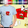 Peanuts Snoopy Christmas Dog House Woodstock Comic Toddler Kid Tee Youth T-Shirt