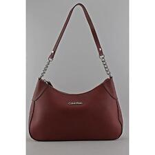 Calvin Klein Saffiano Shoulder Bag Women Burgundy Shoulder Bag Blemish  17014