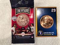 ADRIAN BELTRE TEXAS RANGERS 2018 BASEBALL TREASURE BRONZE COIN CARD #29 NM