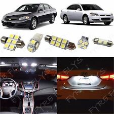 12x White LED lights interior package kit for 2006-2013 Chevy Impala CI3W
