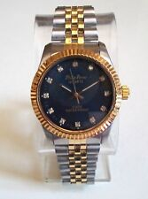 MEN'S GOLD/SILVER FINISH BLUE DIAL FASHION INSPIRED STYLE DRESSY/CASUAL WATCH