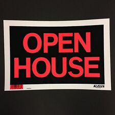 "Open House - Flexible Plastic Sign - 12"" x 8""  ( Lot of 3 ) Brand New"
